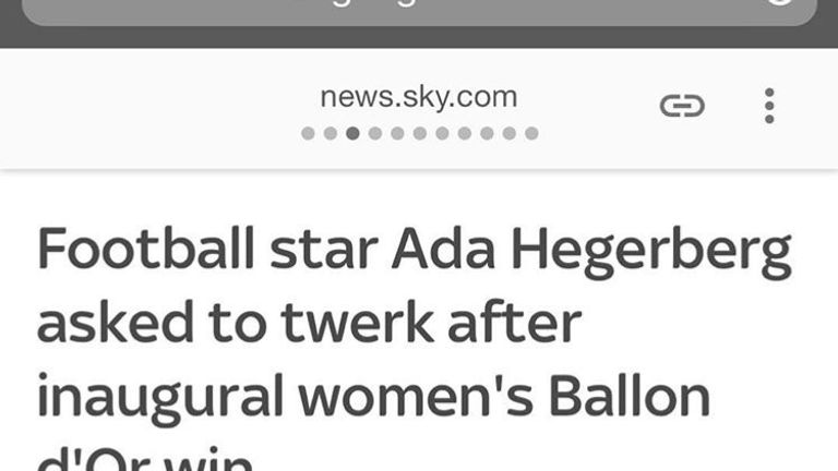 Andy Murray claims the incident where the Ballon d'Or co-host asked Ada Hegerberg if she knew how to twerk shows sexism is prevalent in sport