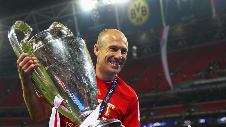 Robben scored the winner for Bayern Munich in the 2013 Champions League Final