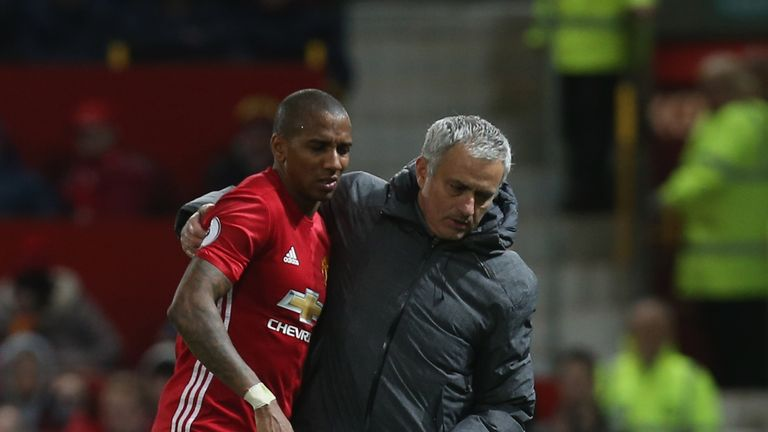 Ashley Young is one of the first names on Jose Mourinho's teamsheet