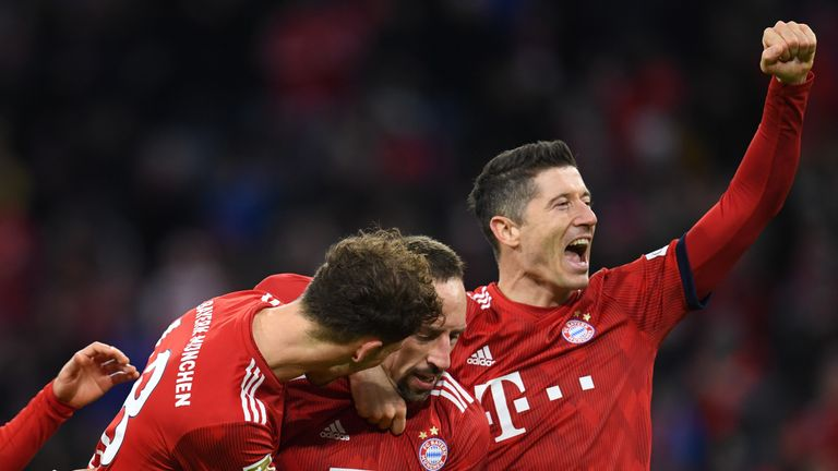 Bayern Munich moved up to second in the table