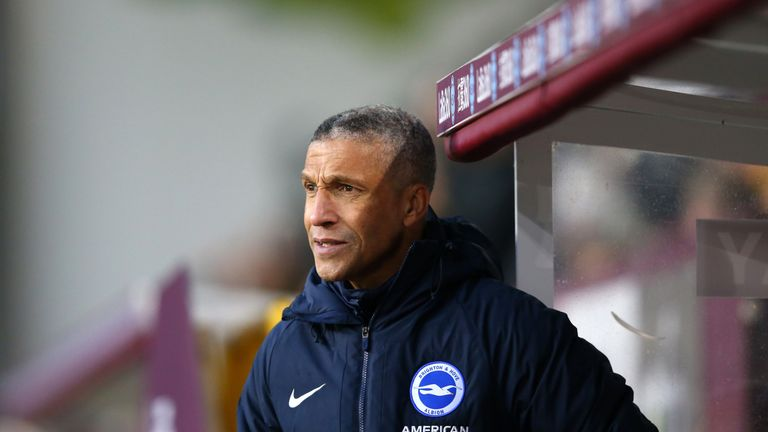 Chris Hughton thinks his side deserved more at Turf Moor