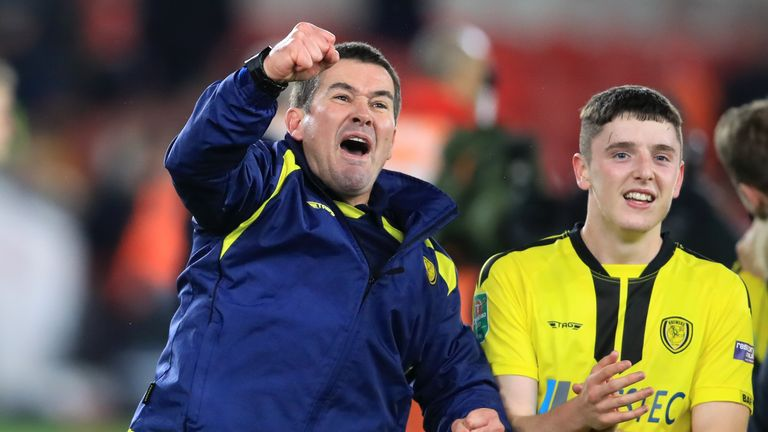 Nigel Clough's Burton beat Middlesbrough to reach the last four