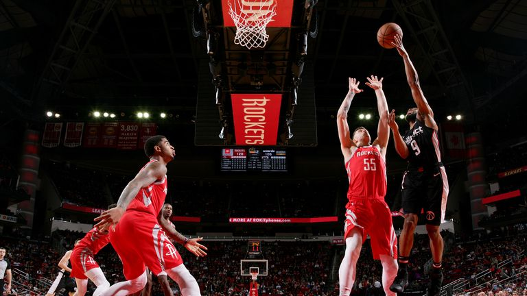 Chasson Randle of the Washington Wizards shoots the ball during the game against the Houston Rockets