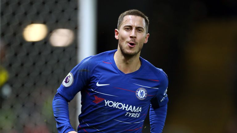 Eden Hazard tops the midfield charts