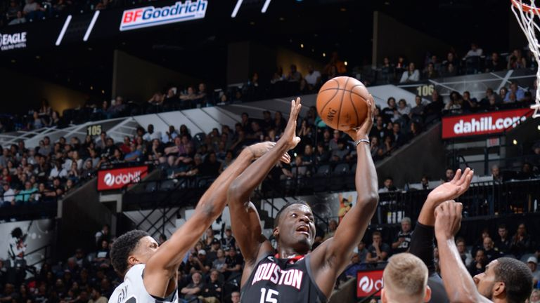 Clint Capela leads the Houston Rockets to victory against the San Antonio Spurs