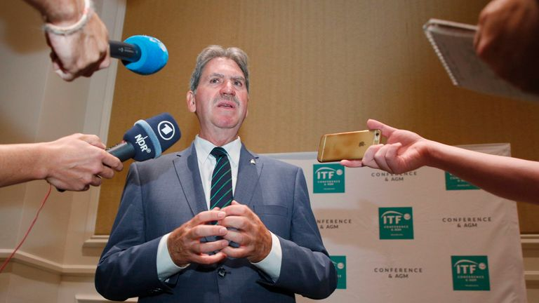 International Tennis Federation boss David Haggerty compares Davis Cup row to Brexit