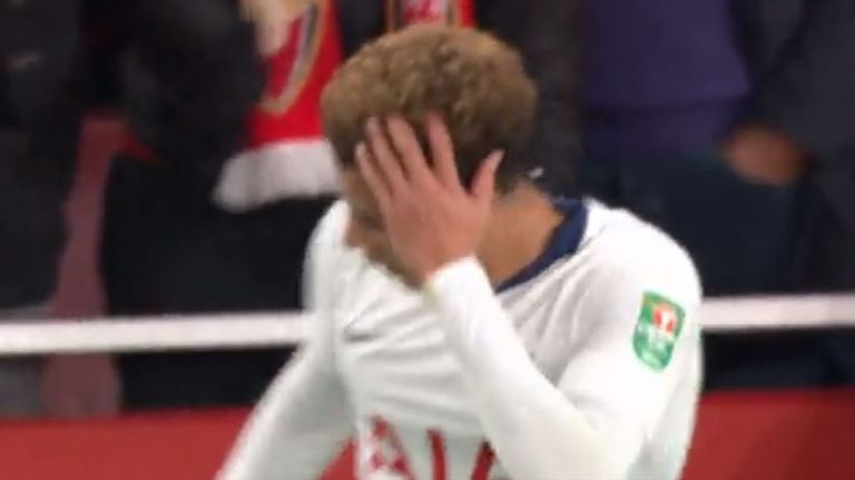 Dele Alli hit by bottle at Emirates