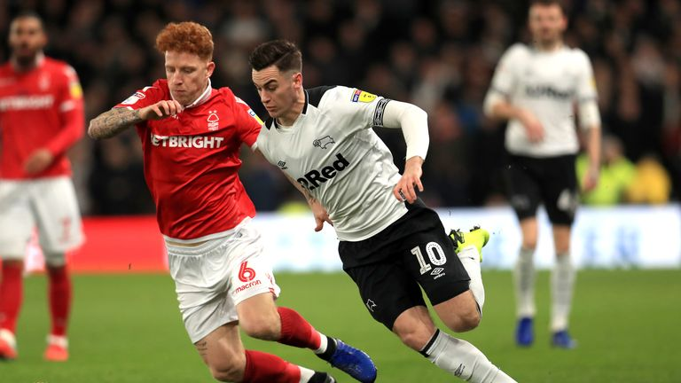 Nottingham Forest vs Derby will be shown live on Sky Sports