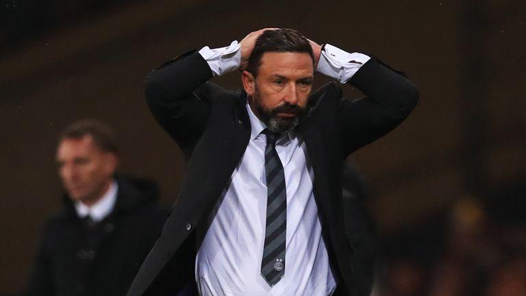 Derek McInnes' Aberdeen lost to Celtic in the cup final