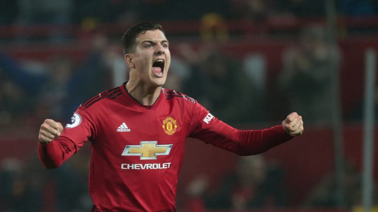 Diogo Dalot made his first Premier League start in the draw with Arsenal