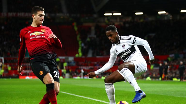Diogo Dalot reduced Ryan Sessegnon to mainly defensive duties at Old Trafford