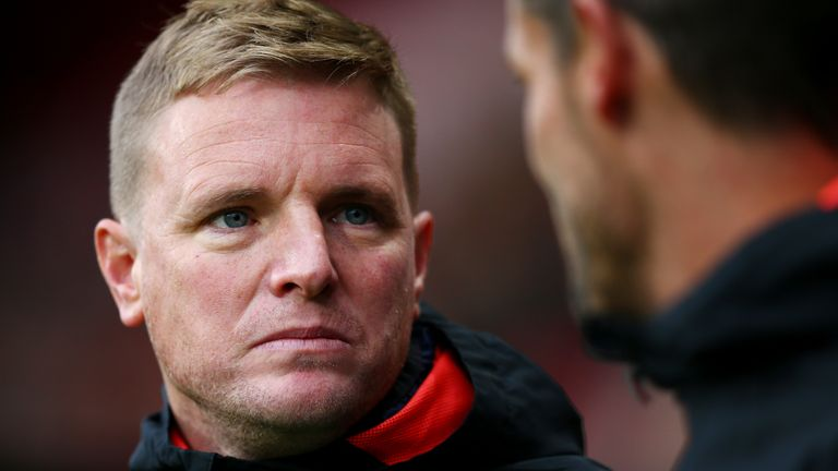 Eddie Howe insists he has not fallen out with his goalkeeper