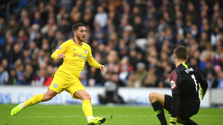 Hazard has scored 10 goals and added 10 assists in the league this season