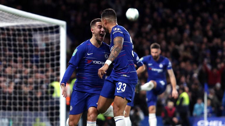 Chelsea reached the semi-finals after Eden Hazard scored the winner against Bournemouth