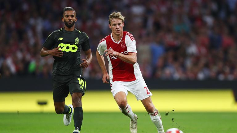 Frenkie De Jong says he will not leave Ajax during the winter transfer window