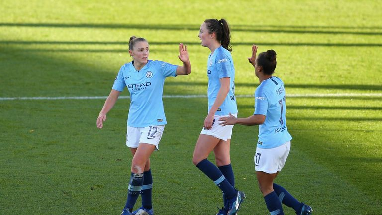 Georgia Stanway and Nikita Parris will be looking to bring their club from