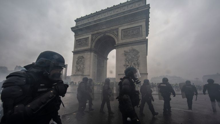 Riots have hit Paris on successive weekends, forcing PSG's game to be called off