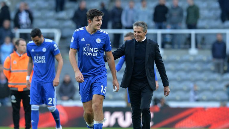 Harry Maguire with Claude Puel