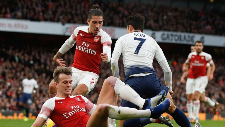 Arsenal missed Rob Holding and Hector Bellerin