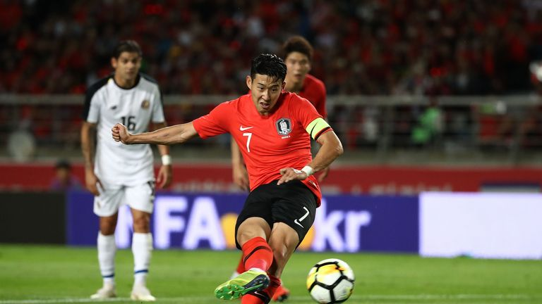 Heung-Min Son taking penalty for South Korea