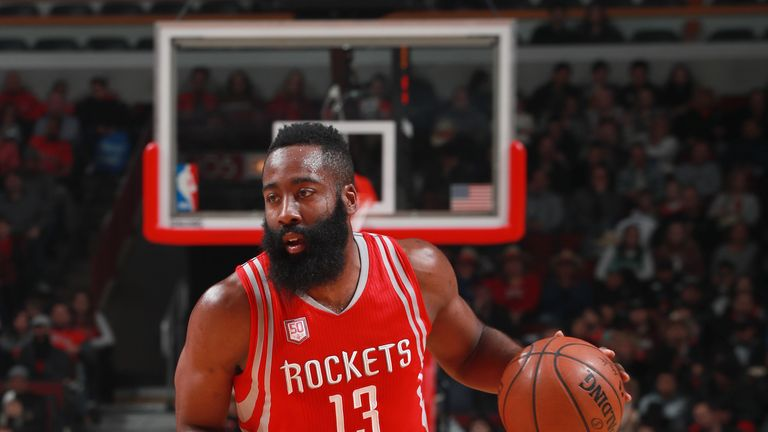 James Harden leads scoring again for the Rockets