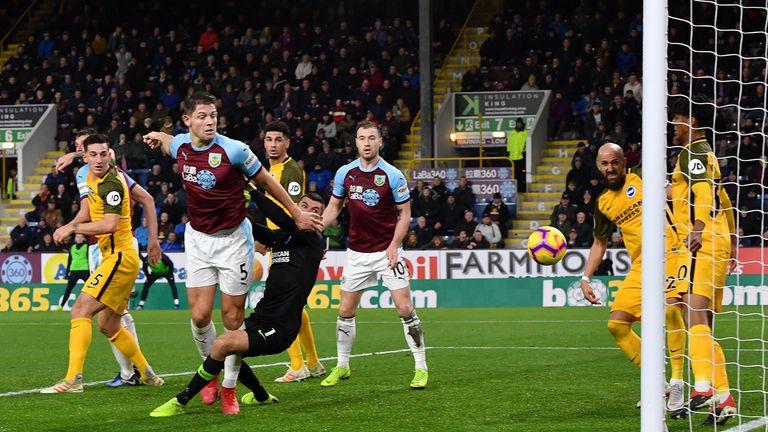 James Tarkowski scores for Burnley