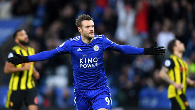 Jamie Vardy gave Leicester the lead with a penalty
