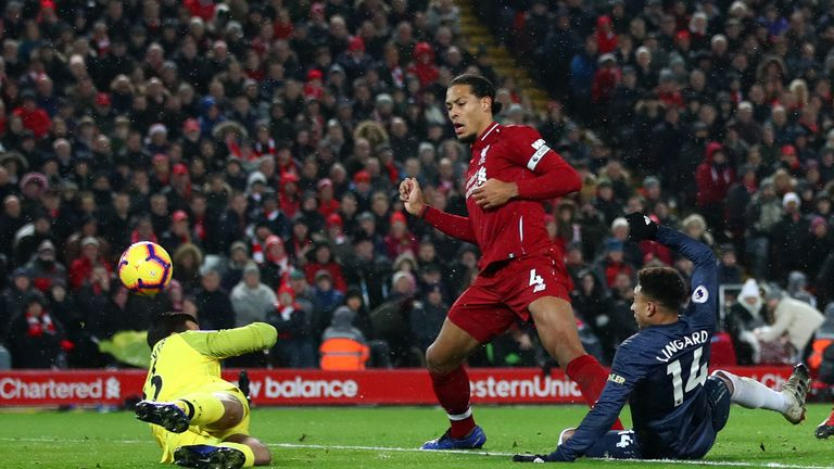 Jesse Lingard capitalised on Alisson's error to level for Manchester United against Liverpool