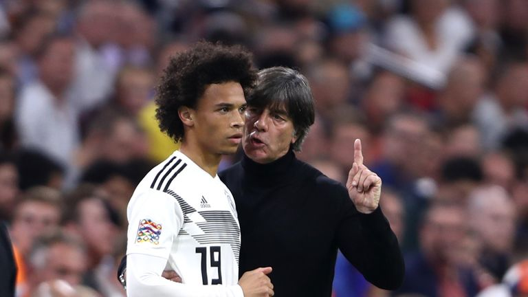 Sane has forced his way back into Low's plans after missing out on a World Cup squad