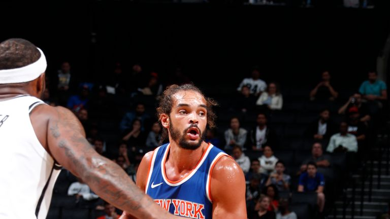 Joakim Noah in action for the New York Knicks in 2017