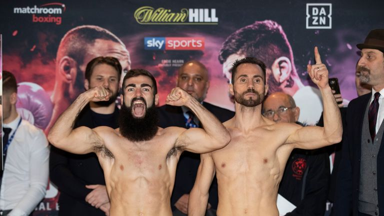 Jono Carroll (left) hopes to earn a fight against IBF champion Tevin Farmer