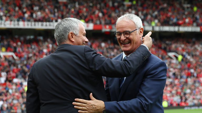 Jose Mourinho and Claudio Ranieri meet again