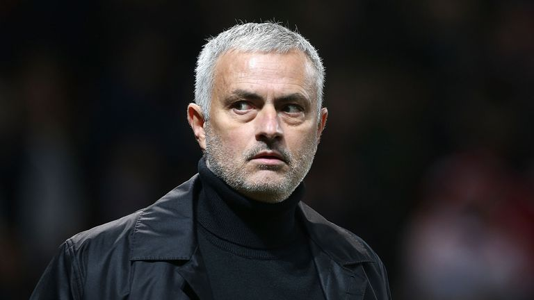 Jose Mourinho during the Premier League match between Manchester United and Arsenal FC at Old Trafford on December 5, 2018 in Manchester, United Kingdom.