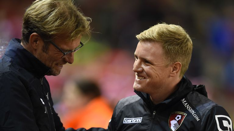 Eddie Howe's Bournemouth side entertain Liverpool this weekend
