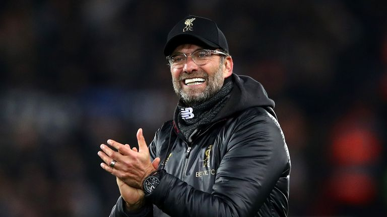 Jurgen Klopp during the UEFA Champions League Group C match between Liverpool and SSC Napoli at Anfield on December 11, 2018 in Liverpool, United Kingdom.