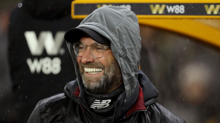 Jurgen Klopp during the Premier League match between Wolverhampton Wanderers and Liverpool FC at Molineux on December 21, 2018 in Wolverhampton, United Kingdom.