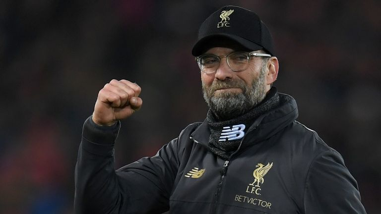 Liverpool's title charge has gathered pace under manager Jurgen Klopp