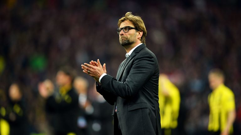 Jurgen Klopp and Borussia Dortmund lost to Bayern Munich in the 2013 Champions League final at Wembley