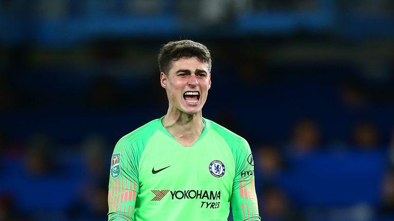 Kepa Arrizabalaga is an injury doubt for Chelsea