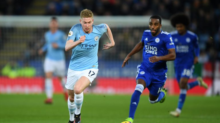Kevin De Bruyne is a doubt for Man City's game against Liverpool