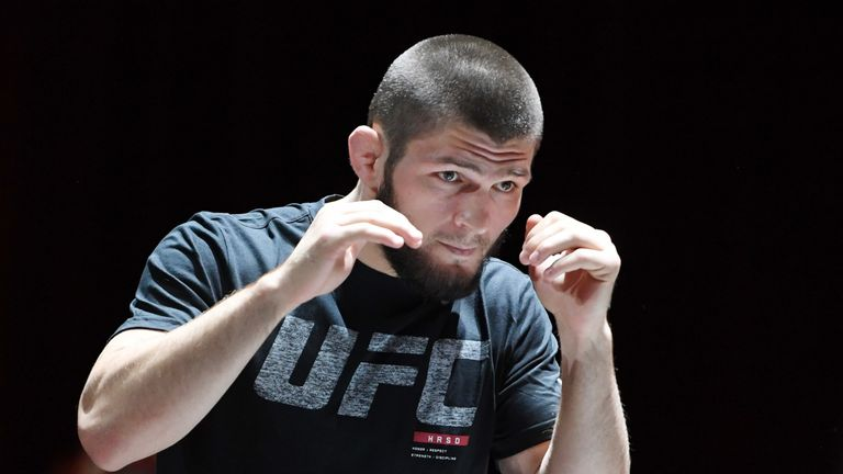 Khabib Nurmagomedov said he wanted to fight Floyd Mayweather back in October