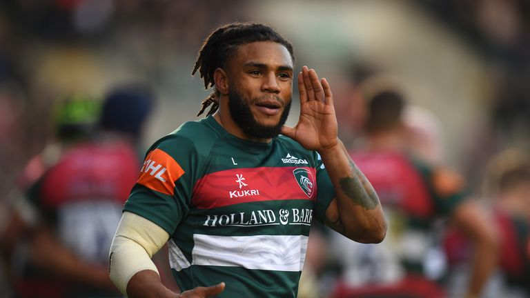 Kyle Eastmond was shown a red card for a dangerous tackle on Bristol Bears' Ian Madigan