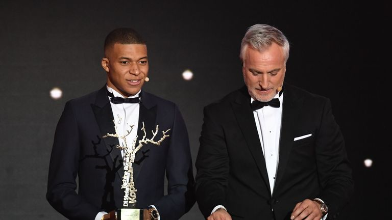 Kylian Mbappe wins best young player prize at Ballon d'Or