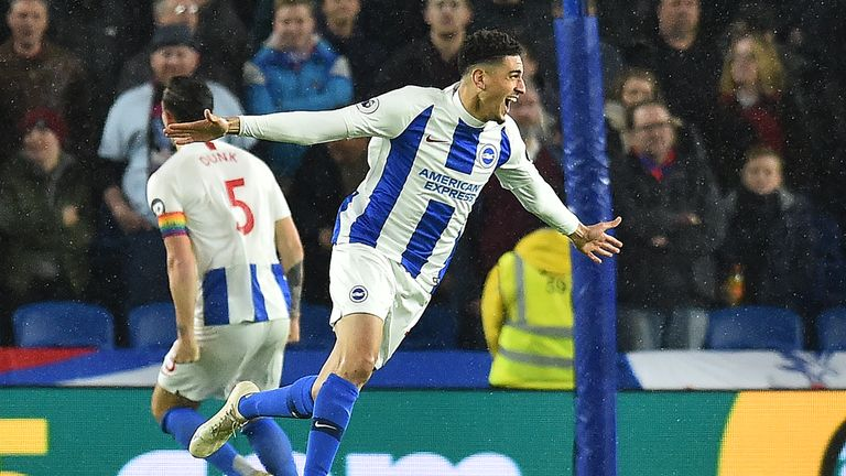 Leon Balogun celebrates his goal seconds after coming on as a substitute