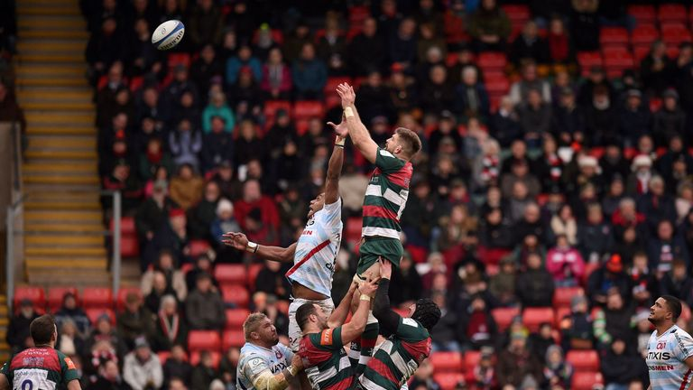 Leicester's lineout struggled at Welford Road on Sunday