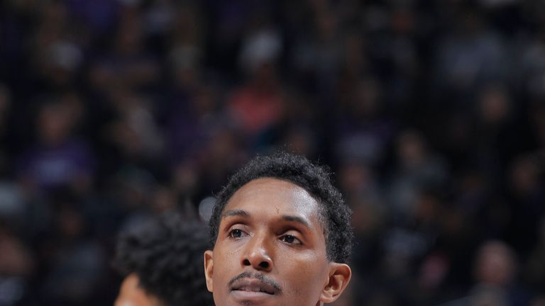 SACRAMENTO, CA - NOVEMBER 29: Lou Williams #23 of the Los Angeles Clippers looks on during the game against the Sacramento Kings on November 29, 2018 at Golden 1 Center in Sacramento, California. NOTE TO USER: User expressly acknowledges and agrees that, by downloading and or using this photograph, User is consenting to the terms and conditions of the Getty Images Agreement. Mandatory Copyright Notice: Copyright 2018 NBAE (Photo by Rocky Widner/NBAE via Getty Images)
