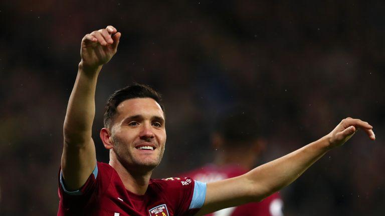 Lucas Perez celebrates his goal