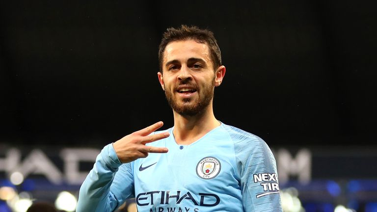 Bernardo Silva celebrates scoring against Bournemouth