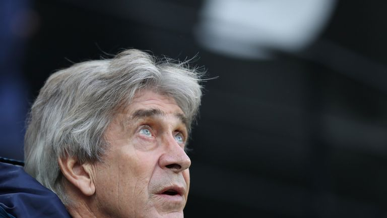 Manuel Pellegrini has targeted the top six for West Ham