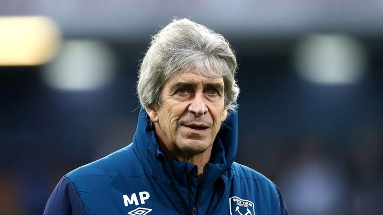 Manuel Pellegrini is preparing his side for Monday's visit of Liverpool, live on Sky Sports